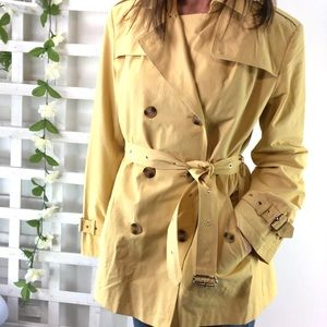 Gallery Rain Jacket size L Double breasted Belted